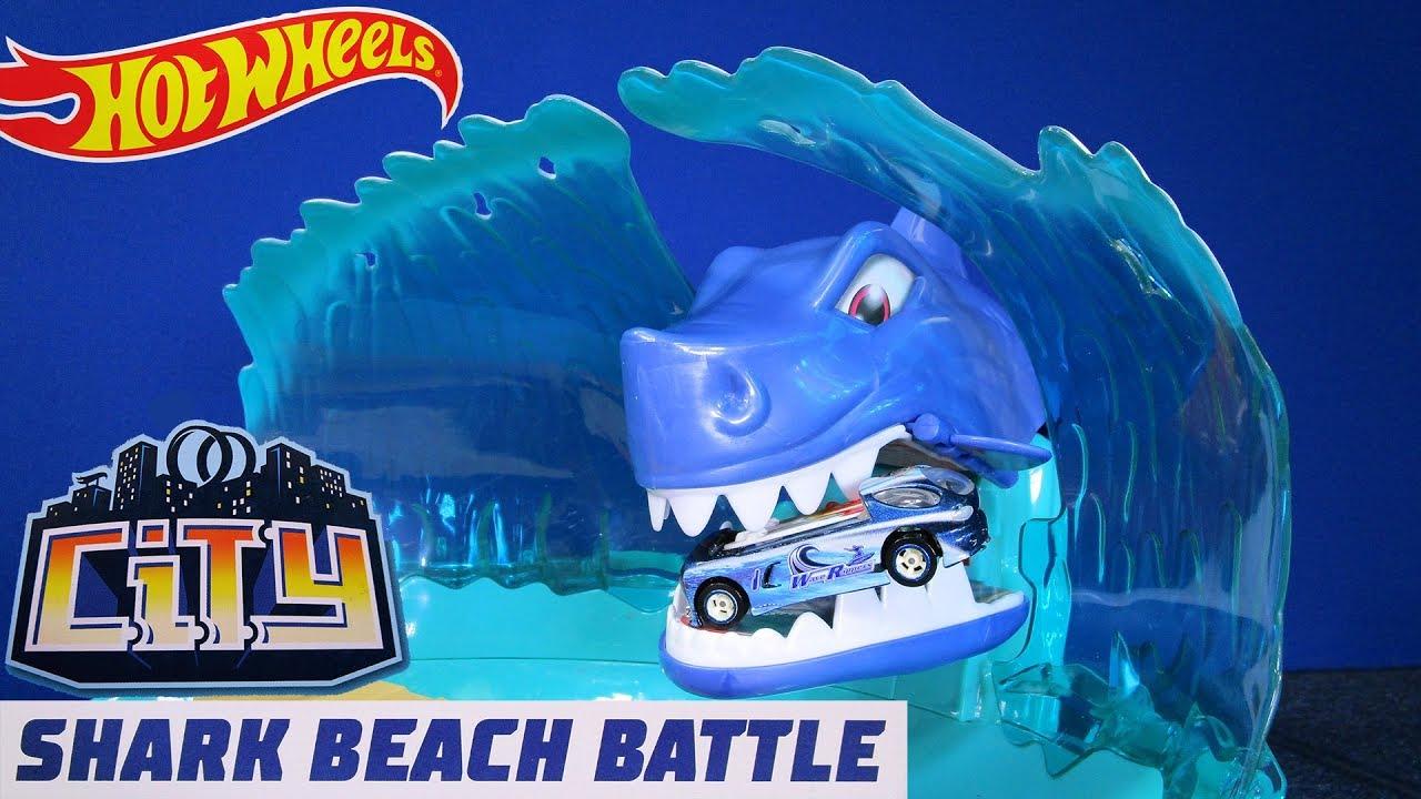 Hot Wheels Shark Beach Battle Hot Wheels City Playset Hotwheelscity