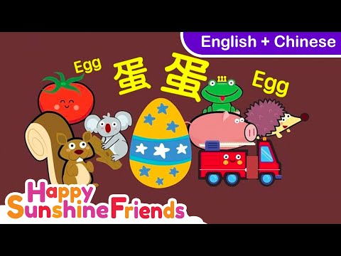 Shapes and object Chinese Kids song | (English & Chinese中文 )