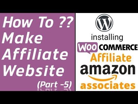 How To 💻Make Affiliate Website Using Woo-Commerce 🛒 Plugin ? wordpress Tutorial Part-5 thumbnail