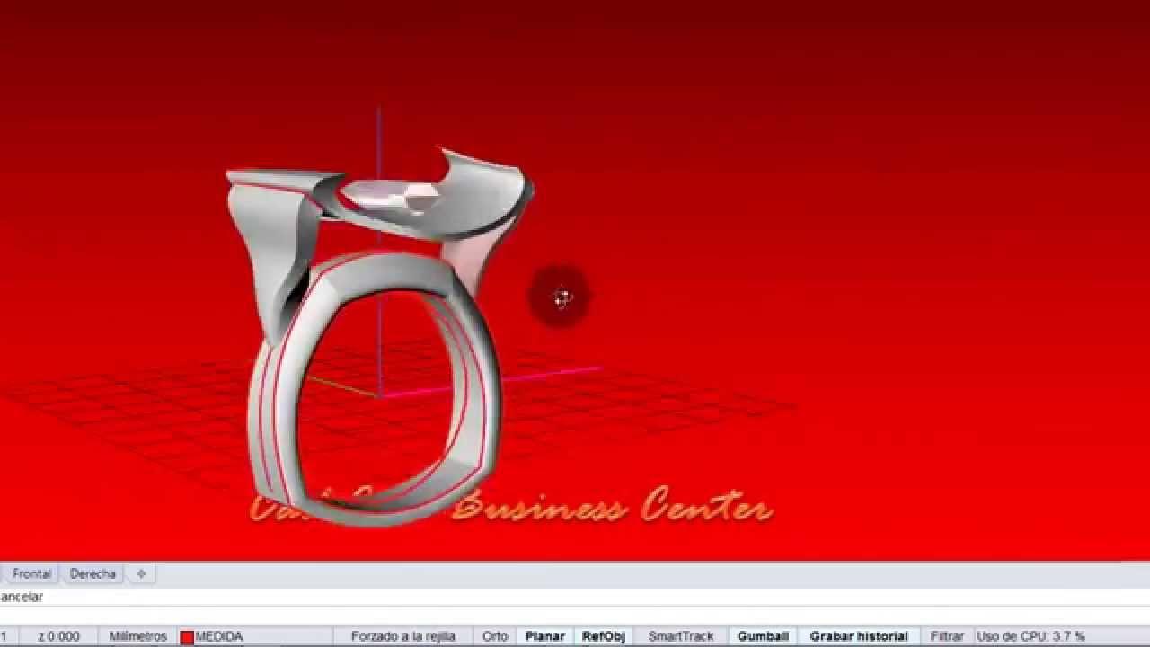 3179e251bae1 Tutorial Diseño Joya en tiempo real con Rhino 5 - CadCamNegocios ...