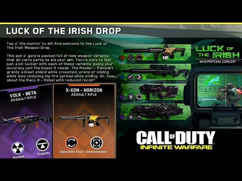 "*NEW UPDATE* ""LUCK OF THE IRISH"" EVENT LIVE in Infinite Warfare | UNLOCKING ALL NEW VARIANTS"