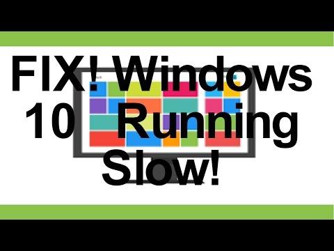 FIX!! Windows 10 Running Slow! Works On All Windows 10 PC's!
