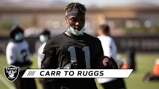 Derek Carr Connects With Henry Ruggs III for One-Handed Touchdown | Las Vegas Raiders