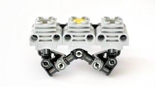 Lego Technic 3 Cylinder Planar Engine (+Instructions) - Lego Technic Mastery