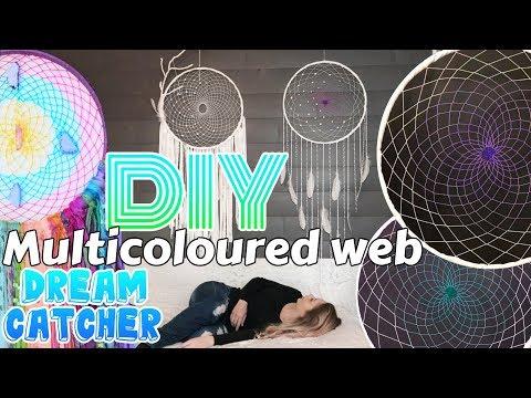 DIY Multicoloured Web Dreamcatcher Tutorial EASY!