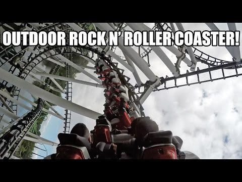 Xpress aka Outdoor Rock N Roller Coaster! 60fps POV Walibi Holland Netherlands
