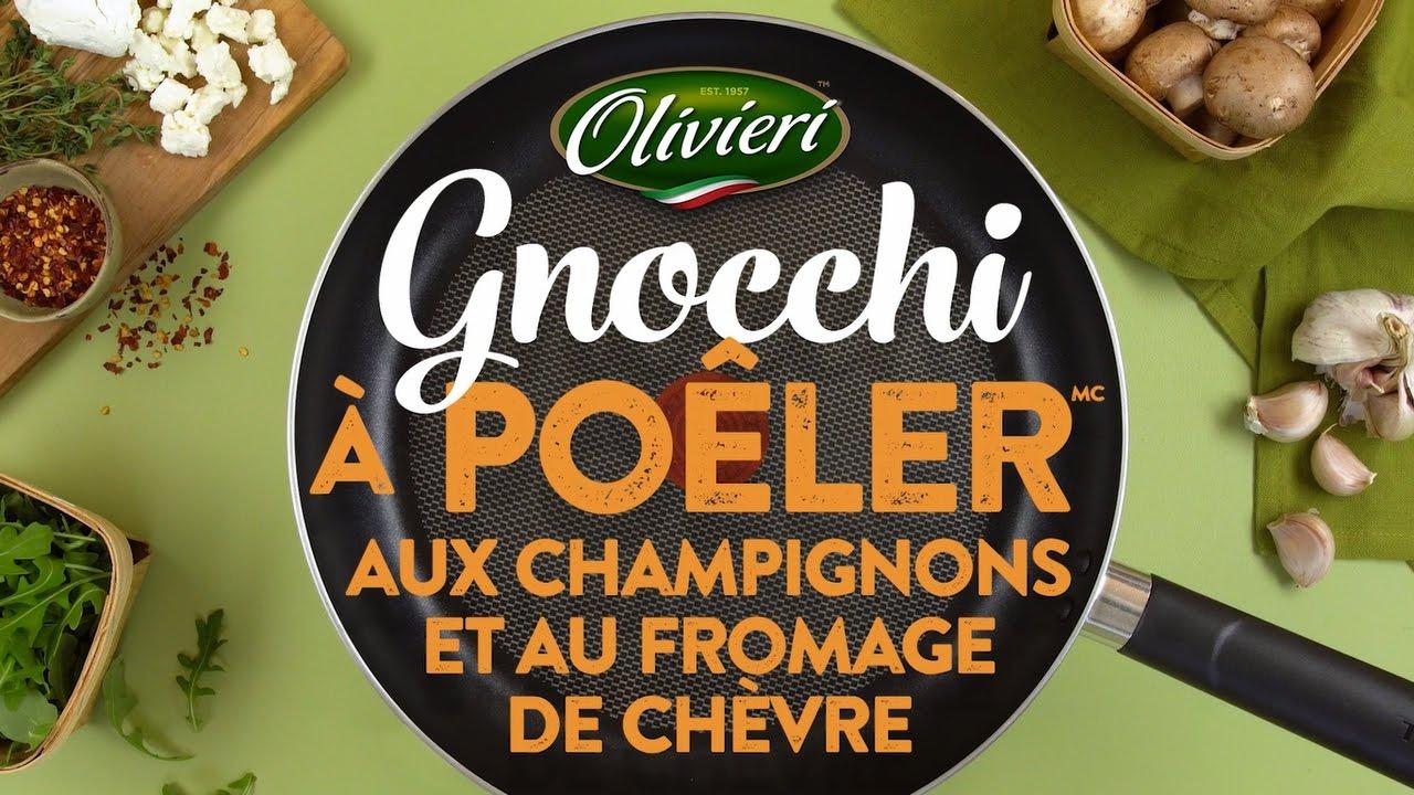 Gnocchi à Poêler aux champignons et au fromage de chèvre ...