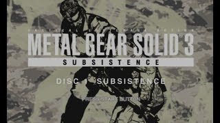 Metal Gear Solid 3: Subsistence- PC Emulation ( Tutorial and Gameplay)