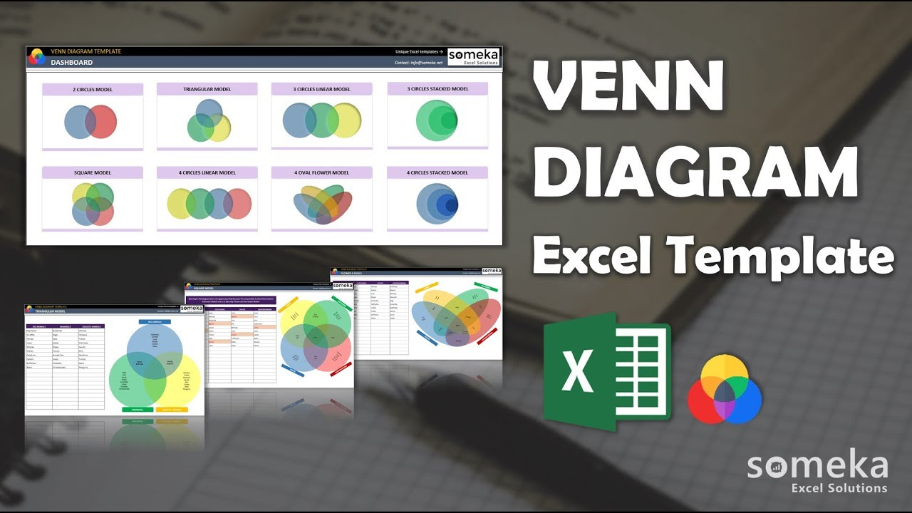 Venn Diagram Template Create Venn Diagram In Excel Youtube