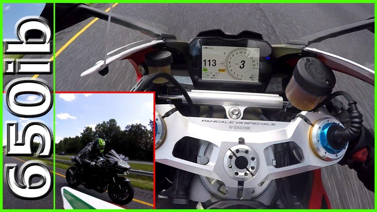 Ducati V4 Speciale Vs Ninja H2 New Gixxer Smackdown Youtube
