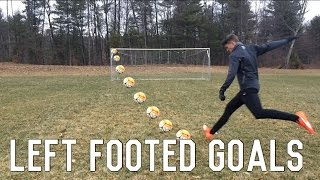 How To Improve Your Weak Foot | Left Footed Goals