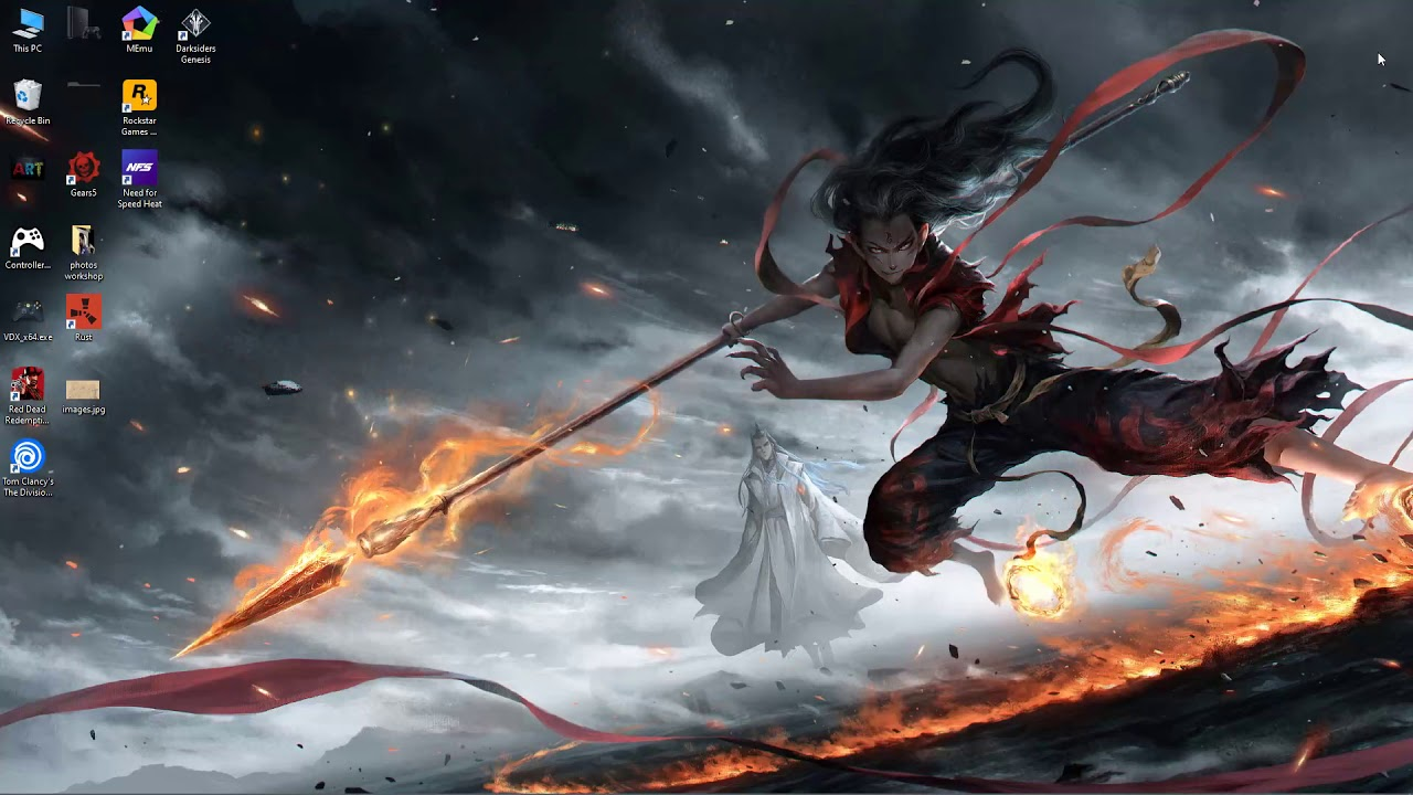 wallpaper engine anime Nezha Devil free download - YouTube