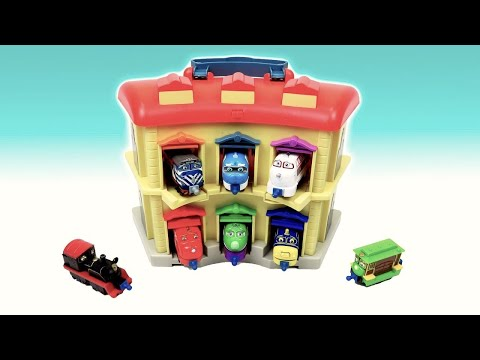Chuggington Trains train in Portable Double Decker Roundhouse Brewster Wilson чаггингтон паровозики