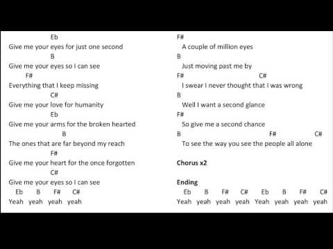 Give Me Your Eyes Chords By Brandon Heath Worship Chords