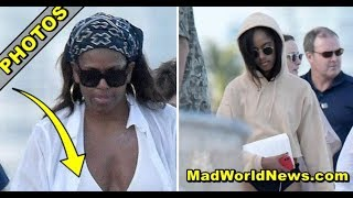 MICHELLE OBAMA DISGUSTS ONLOOKERS WITH DISTURBING DISPLAY AS SHE STRUTS AROUND MIAMI BEACH!
