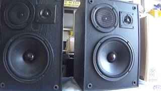 how work KLH B900 speakers