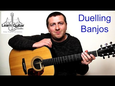Duelling Banjos - Guitar Tutorial - Deliverance - Drue James