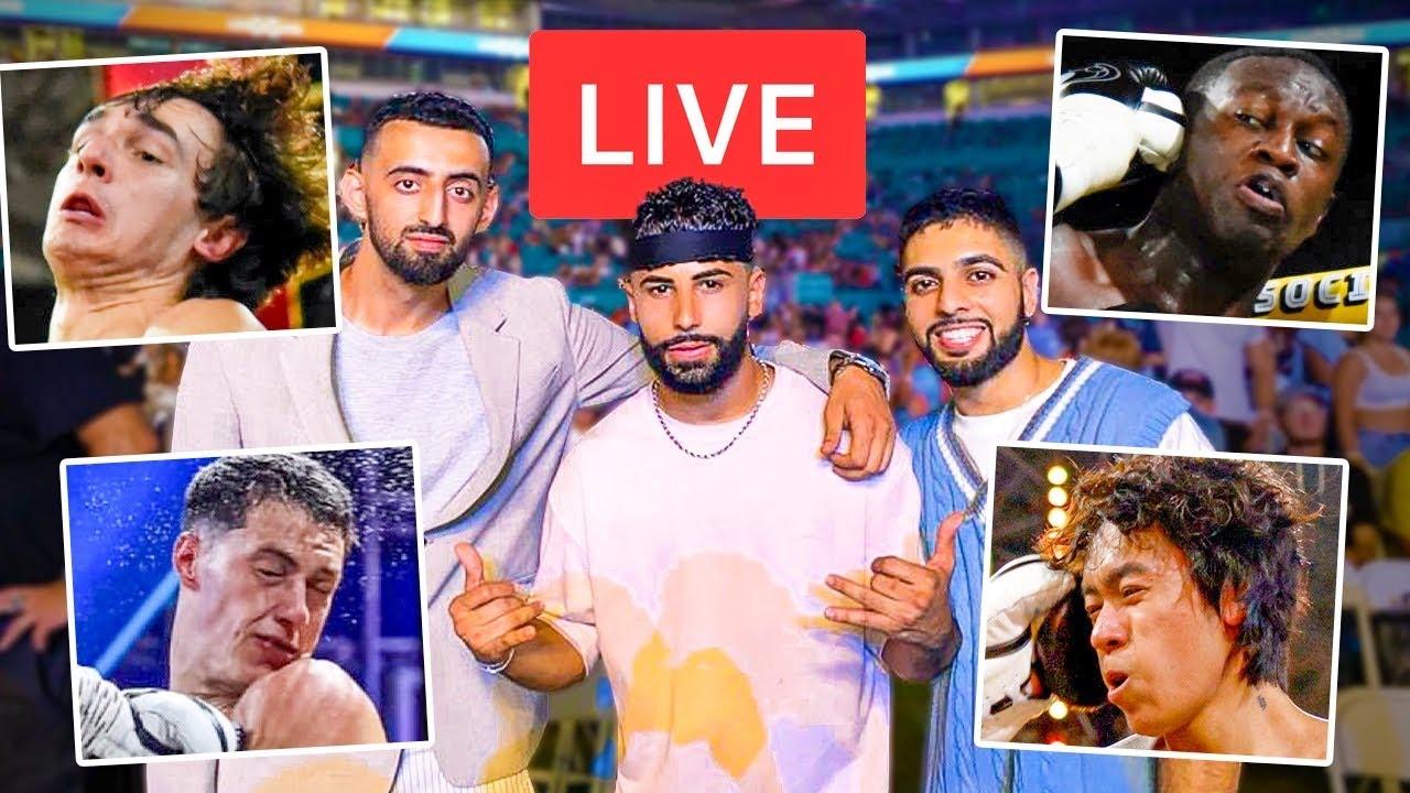 INSANE LIVE REACTION To YouTube vs Tik Tok BOXING Event!!! *KNOCKOUT*