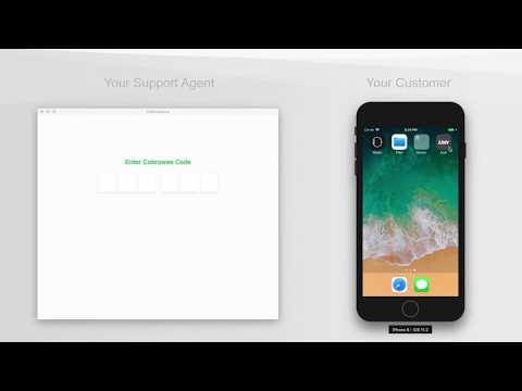 Cobrowse.io Remote Screenshare for iOS & Android Demo Video