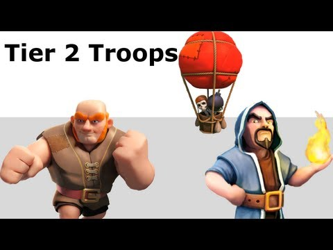 Clash of Clans Attack Strategies #2: Giants, Balloons and Wizards only