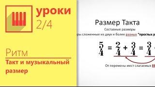 Такт и Музыкальный размер. Изучаем за 15 минут. (Урок 2/4)