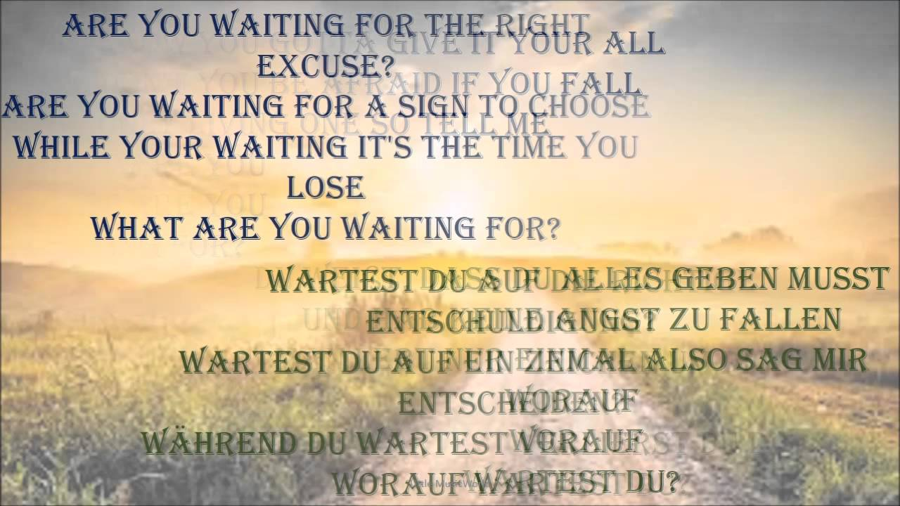 nickelback - what are you waiting for lyrics   english german