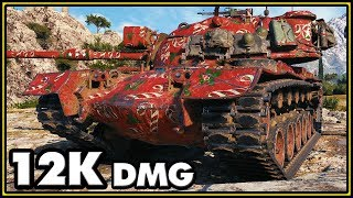 M48A5 Patton - 12K Damage - World of Tanks Gameplay