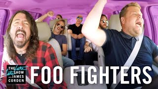 James and the Foo Fighters take a drive through Los Angeles singing...