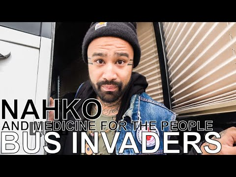 """Nahko and Medicine for the People - BUS INVADERS Ep. 1255: Subscribe to Digital Tour Bus: http://bit.ly/DTBsubscribe  On this episode of DTB's """"Bus Invaders"""", we take you inside the touring vehicle of the world music band, Nahko and Medicine for the People, while on tour with 1,000 Fuegos and Christina Holmes. Nahko and Medicine for the People is best known for their songs """"Aloha Ke Akua"""" and """"Warrior People"""".  Watch more """"Bus Invaders"""" episodes: MuteMath - http://digtb.us/2mvYCXn Atlas Genius - http://digtb.us/2my2maK X Ambassadors - http://digtb.us/2mA5e78  Digital Tour Bus links: Check out our website - http://digitaltourbus.com Join our email list - http://digtb.us/DTBemaillist Official merch store - http://digtb.us/DTBofficialmerch Help us continue making videos on Patreon - http://digtb.us/DTBpatreon  Information about this video: Film Date - October 28, 2017 Location - Concord Music Hall in Chicago, IL   Keep up with the band on: Facebook - https://www.facebook.com/nahkoandmedicineforthepeople Twitter - https://twitter.com/NahkoBear  Check out our other web series: Popular DTB videos - http://digtb.us/dtbpopular Bus Invaders - http://digtb.us/businvadersplaylist Gear Masters - http://digtb.us/gearmastersplaylist Cooking At 65mph - http://digtb.us/cookingat65mphseries Crazy Tour Stories - http://digtb.us/crazytourstoriesplaylist Dream Tour - http://digtb.us/dreamtourplaylist First Concert Ever - http://bit.ly/firstconcerteverplaylist Preshow Rituals - http://digtb.us/preshowritualsplaylist The Life Of Tour - http://digtb.us/thelifeoftourplaylist Tour Pranks - http://digtb.us/tourpranksplaylist Tour Tips - http://digtb.us/tourtipsplaylist Video Games On Tour - http://digtb.us/videogamesontourplaylist  Stay connected with us: Twitter - https://twitter.com/digitaltourbus Facebook - https://www.facebook.com/digitaltourbus Youtube - https://www.youtube.com/digitaltourbus Snapchat - https://www.snapchat.com/add/digitaltourbus Instagram - https://www.instagram.com/di"""