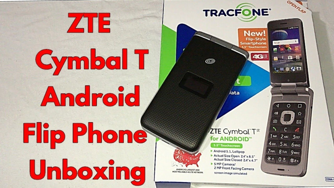 new arrival a78f7 ec1fe ZTE Cymbal T Android Flip Detailed Unboxing & First Impressions.