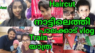 Reached Kerala|Palakkad vlog|How i pack my things|All about my haircut|Travel makeup|Asvi Malayalam