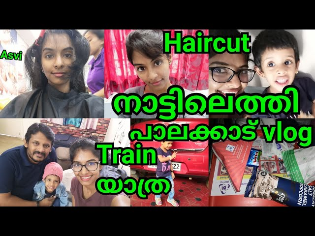 Reached Kerala|Palakkad vlog|How i pack my things|All about my haircut|Travel makeup|Asvi Malayalam