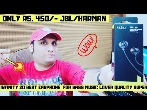 Infinity Zip 20🔥Earphones By Harman JBL  Unboxing & Review in Hindi | Best Earphones Under ₹450