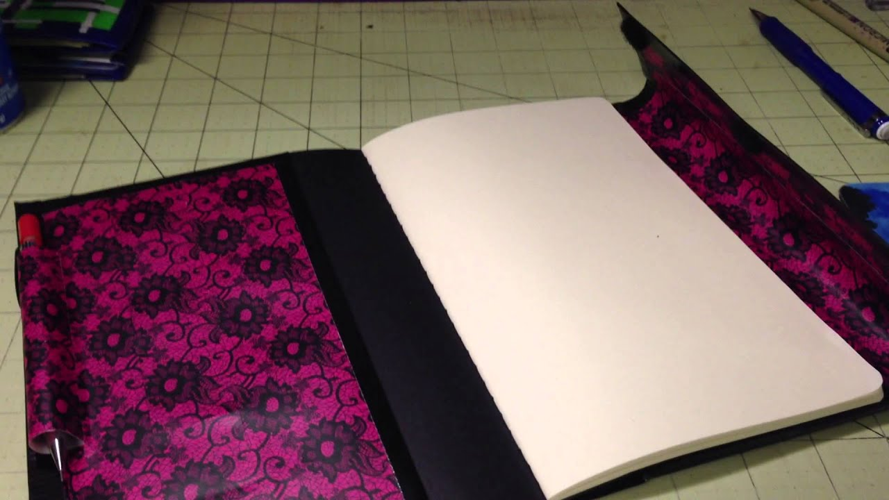 Duct Tape Book Cover Tutorial : Duct tape notebook cover youtube