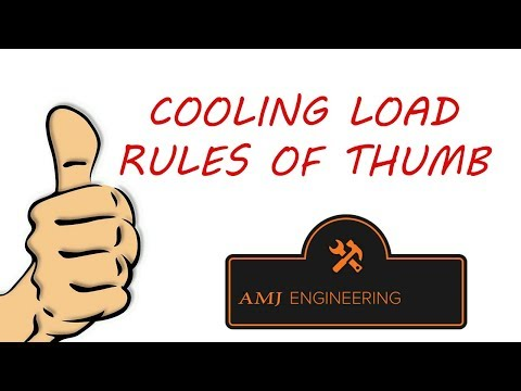 Rules of thumb, cooling load - YouTube