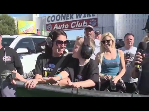 #BaptismbyNitro Grand Prize winner gets a Surprise visit from Courtney Force