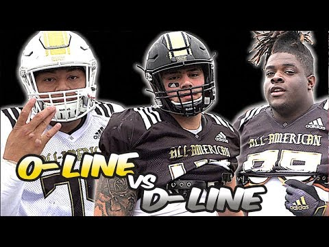 OL V DL 1v1s | Sights & Sounds | 2019 All-American Bowl Practice | West Vs East Joint Practice