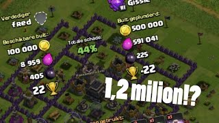 BIGGEST CLASH OF CLANS RAID EVER! 1.2 MILION LOOT!!???