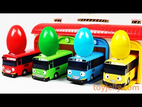 Thumbnail: Learn Cars Colors with Tayo Bus Surprise Eggs, Pokemon, PJ Masks Finger Family Song Nursery Rhymes