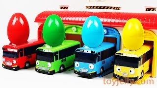 Learn Cars Colors with Tayo Bus Surprise Eggs, Pokemon, PJ Masks Finger Family Song Nursery Rhymes
