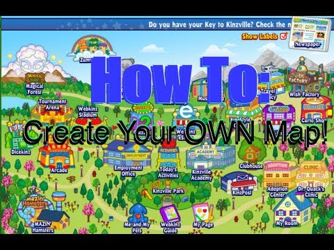 How To Create Your Own Map On Webkinz Youtube