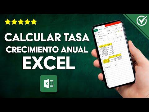 Cómo Calcular la tasa de Aumento o Crecimiento Anual en Excel
