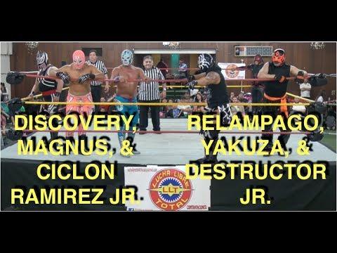 Ciclon Ramirez Jr., Magnus, & Relampago LLT Lucha Estrella -- 4/22/18