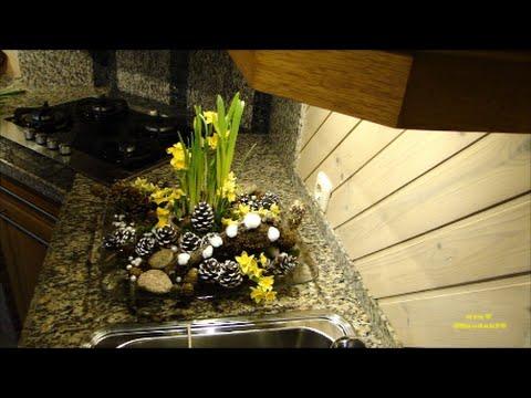 DIY bloemschikken Frühlingsblumen deko selber machen: voorjaarsbloemstuk – Springdeco  mrsT45andabit