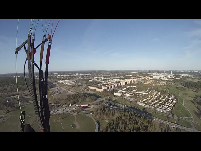 Paragliding towing Barkarby/Stockholm 2017-05-06
