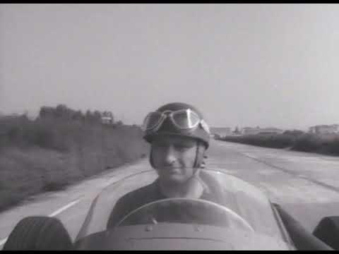 Onboard with Juan Manuel Fangio testing Maserati 1957 F1 - Modena Autodrome
