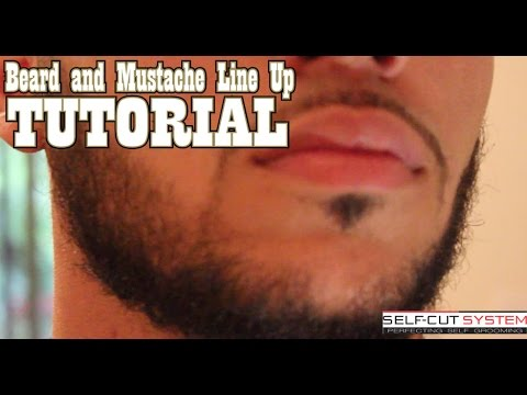 BEARD AND MUSTACHE LINE UP TUTORIAL SELF CUT SYSTEM