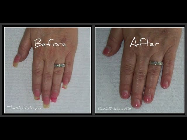 How To Shorten Long Acrylic Nails ~ - Clip.FAIL