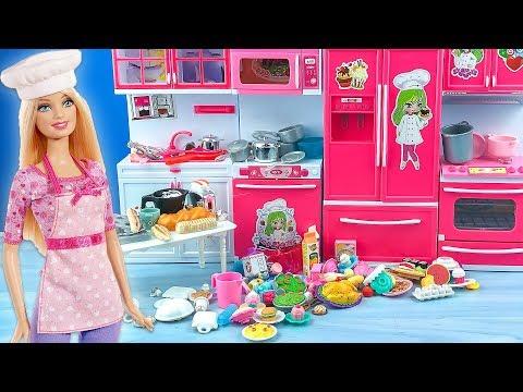 Barbie Mutfak Eşyalarım | YENİ Hobi Odası Turu | EvcilikTV