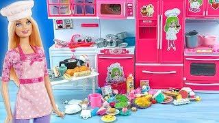 Barbie Mutfak Eşyalarım YENİ Hobi Odası Turu EvcilikTV